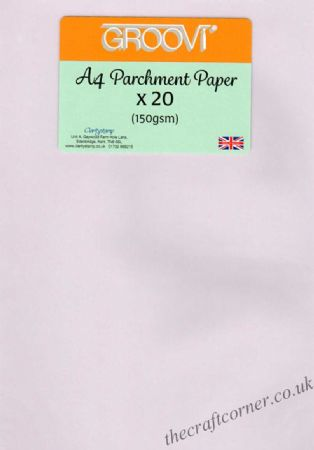 A4 Parchment Paper x 20 Sheets (150gsm) From The Groovi Range